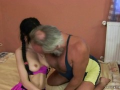 Lucky Grandpa Fucks Teen Girls