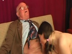Grandad With Hairy Teen Enjoy