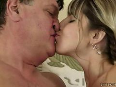 Teen Cutie Has Hot Sex With Grandpa