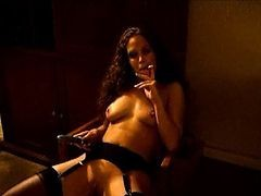 Hot Chick Smoking And Masturbating