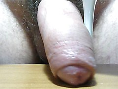 cock used with sexy white Comex pumps