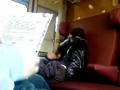 Train Jerkoff And Cumshot