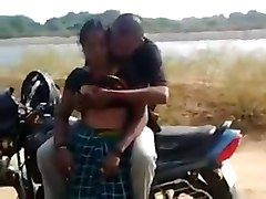 desi- couple having quickie by the road while friend films