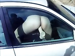 Dildo car window