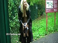 Homemade flashers footage of sexy milf Emma Louise toying