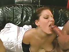 Young and cute slut bukkake orgy