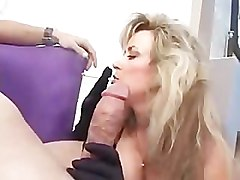 Sexy cougar Anjelica Fox smoking blowjob