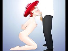 cartoon deeptroats - jessie from toy story 2