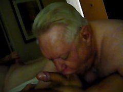 another hot grandpa blow job
