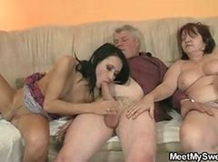 Innocent GF is seduced by her BF& 039;s parents