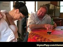 Voyeur papy needs cute chicks for threesome fuck