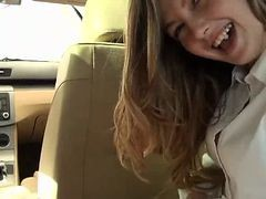 Beautiful Girl Fucked In The Car