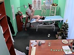 brunette euro patient needs sex to orgasm