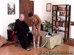 monk sins with this beautiful black babe with perfect body