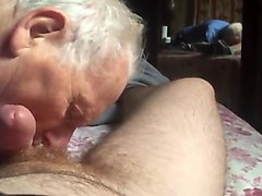 grandpa gives hot blowjob