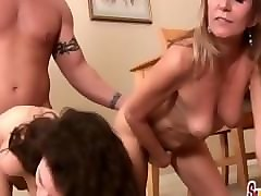 1 pizza man, 2 pussies: monica sexxxton and jessica sexxxton eat in