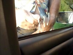 jeeplov outdoor jacking off cumshot on car window