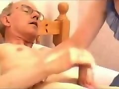 grandpa_s big cock attractive mature - morning blowjob