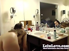 lelu love-webcam: shaving in bath masturbating in shower