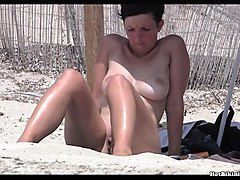 shaved pussy nudist girls beach voyeur hd video