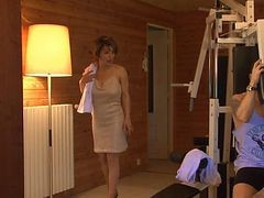 French Milf Fucked In Sauna
