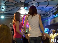 stripper party gets heated when babes start flashing their bodies
