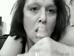 thirsty mature neighbour sucking my dick deepthroat