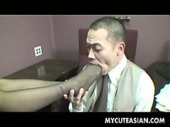 exquisite and sassy asian assistant seduces her boss