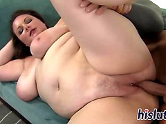 fat horny plumper gets fucked by a big dick dude