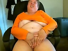 chubby perverted brunette short haired oldie teased her hungry twat