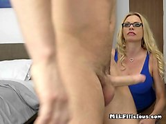 busty cougar briana banks swallows lovers big cock