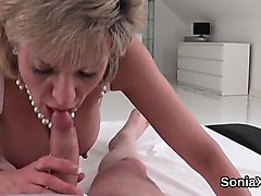 unfaithful british milf lady sonia shows her large boobies