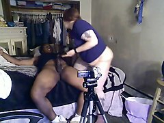 a sluggish black man is fucked by fat pawg