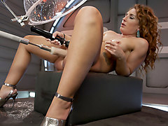 Incredible fetish, squirting xxx scene with horny pornstar Savannah Fox from Fuckingmachines