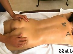 tattooed brunette brandi belle massaged and fucked