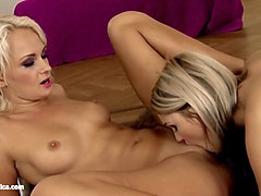 hot blondes antonia and ivana have steamy sex on the carpet carpet cummers by sapphic erotica
