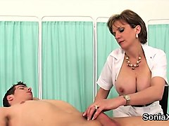 unfaithful british mature lady sonia shows her huge hooters