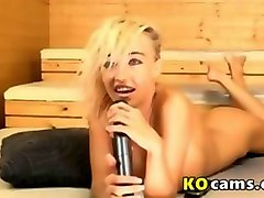 blonde show in sauna