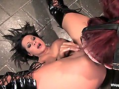 Exotic fetish adult scene with amazing pornstars Claire Adams and Sandra Romain from Whippedass
