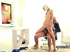 lovable college girl is teased and screwed by her elderly te