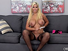 curvaceous blonde cougar bridgette b feeds her desire for masturbation