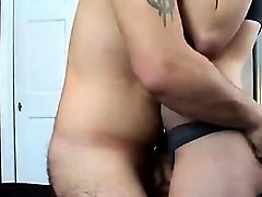 amateur huge breasts and butt rides a boner
