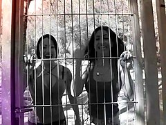 Chicas Loca - Hot Romanian and Spanish babes fuck each other and squirt outdoors