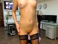 come watch this hot webcam model in sexy stockings masturbate for me on cam