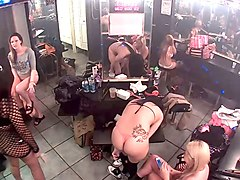 a crowd of sexy bitches getting naked in dressing room on my spy cam