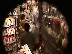 hidden camera in a store films a hot japanese chick get nak