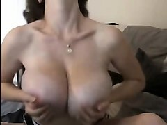 spectacular girl with large breasts performs not clean abou