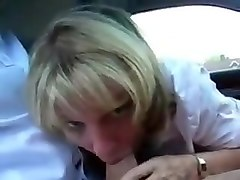 Horny Milf Sucks Of Her Husband In Her Tea Break !
