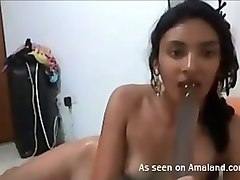 perfect brown skin booty of a young sexy girl on webcam