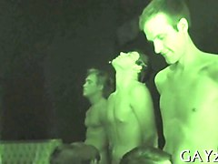 nighttime hazing party with dick sucking twink pledges